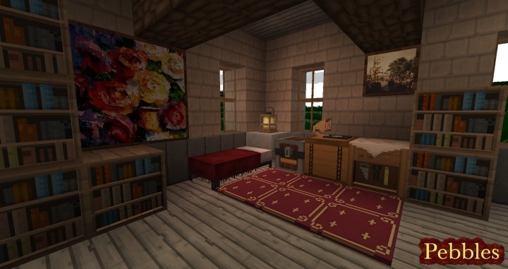 Pebbles 3D Resource Pack for 1.13.1/1.13/1.12.2/1.11.2/1.10.2