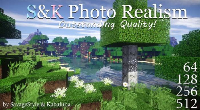 S&K Photo Realism Resource Pack for 1.13.1/1.13/1.12.2/1.11.2/1.10.2