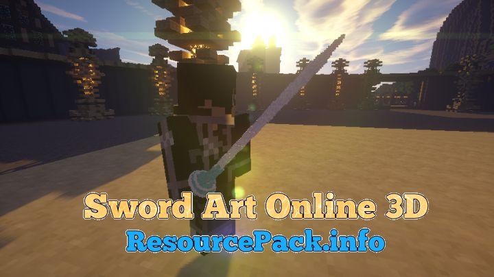 minecraft sword art online texture pack