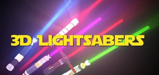 Glowing 3D Lightsabers 1.17.1