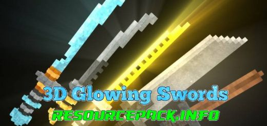 3D Glowing Swords 1.15.2