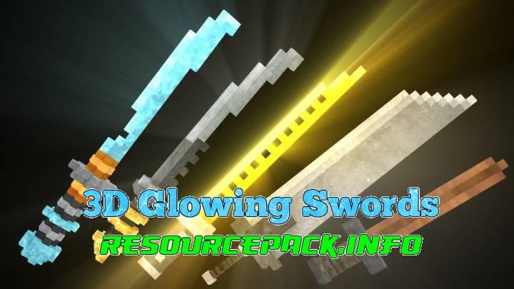 3D Glowing Swords 1.17.1