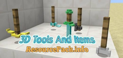 3D Tools And Items 1.17.1