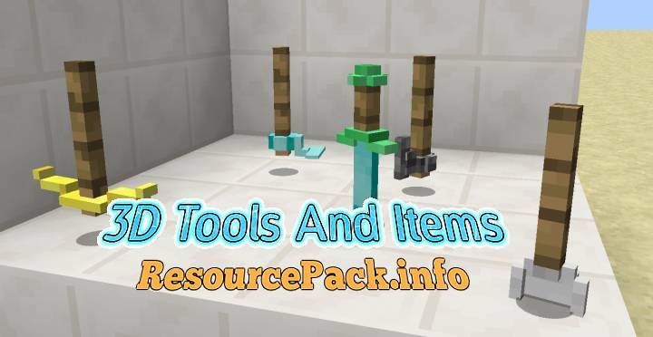 3D Tools And Items 1.15.2