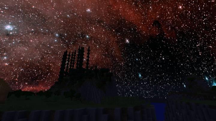 текстуры красивый космос небе для майнкрафт #7