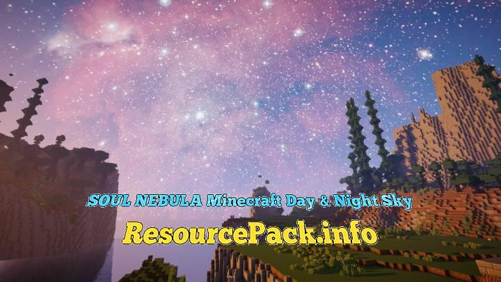 SOUL NEBULA Minecraft Day & Night Sky 1.15.2