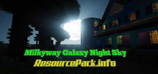 Milkyway Galaxy Night Sky Resource Pack 1.16.5
