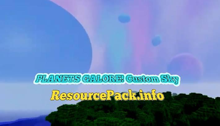 PLANETS GALORE! Custom Sky 1.17.1