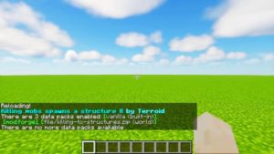 Killing Mobs Can Spawn Structures Datapack 1.13.2